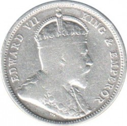 Монета > 50центов, 1902-1910 - Цейлон  - obverse