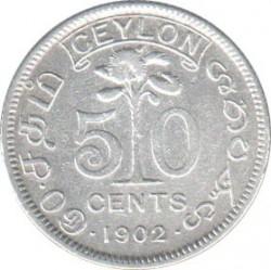 Монета > 50центов, 1902-1910 - Цейлон  - reverse