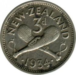 Монета > 3пенса, 1933-1936 - Новая Зеландия  - reverse