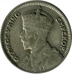 Монета > 6пенсов, 1933-1936 - Новая Зеландия  - obverse