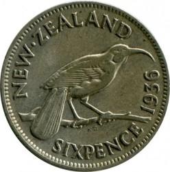Монета > 6пенсов, 1933-1936 - Новая Зеландия  - reverse