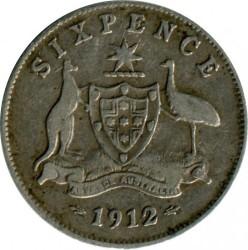 Moneda > 6pence, 1911-1936 - Austràlia  - reverse