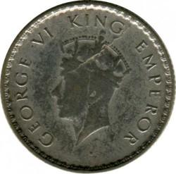 Moneta > ¼rupia, 1939 - India Britannica  - obverse