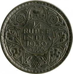 Moneta > ¼rupia, 1939 - India Britannica  - reverse