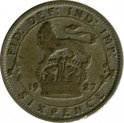 Moeda > 6pence, 1927 - Reino Unido  - obverse