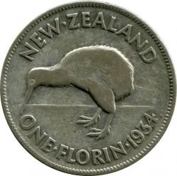 Монета > 2шиллинга(флорин), 1933-1936 - Новая Зеландия  - reverse