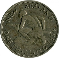 Монета > 1шиллинг, 1933-1935 - Новая Зеландия  - obverse