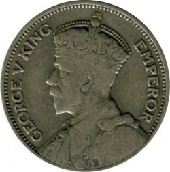 Монета > 1шиллинг, 1933-1935 - Новая Зеландия  - reverse