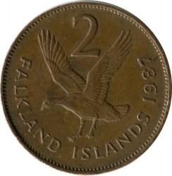 Кованица > 2пенија, 1974-1992 - Фокландска Острва  - reverse