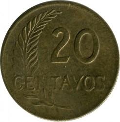 Moneda > 20centavos, 1952-1965 - Perú  - reverse