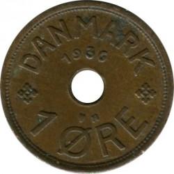 Coin > 1ore, 1926-1940 - Denmark  - reverse