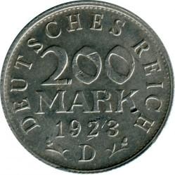 Moneta > 200markių, 1923 - Vokietija  - reverse