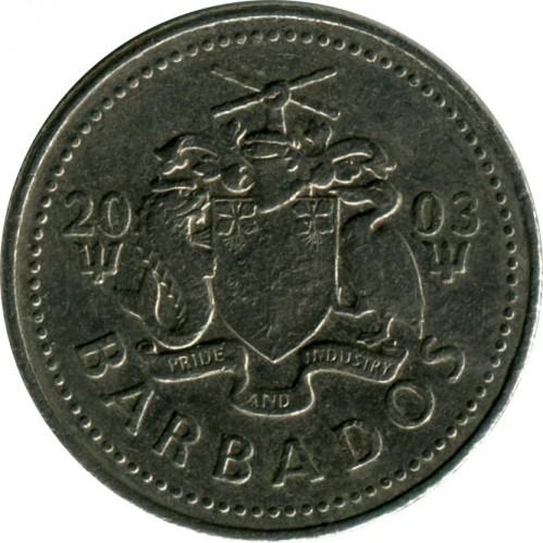 Barbados 25 cents 1973 unc