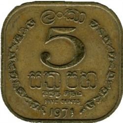 Moneta > 5centai, 1963-1971 - Ceilonas  - reverse