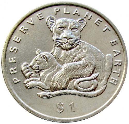 Eritrea Dollar 1995 Lions Preserve Planet Earth