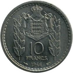Кованица > 10франака, 1946 - Монако  - reverse