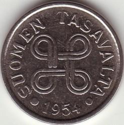 Münze > 5Mark, 1954 - Finnland  - obverse