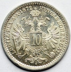 Münze > 10Kreuzer, 1868-1872 - Österreich   - reverse