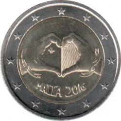 錢幣 > 2歐元, 2016 - 馬爾他  (愛) - obverse