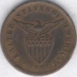 Mynt > ½centavo, 1903-1908 - Filippinene  - obverse