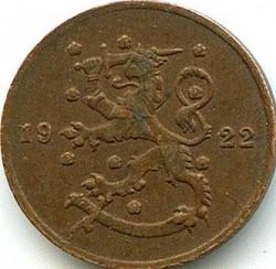 Münze > 1Penny, 1922 - Finnland  - obverse