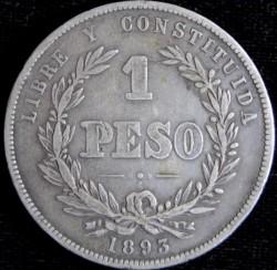 Monedă > 1peso, 1878-1895 - Uruguay  - reverse