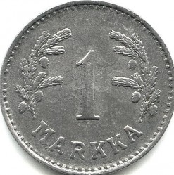 Münze > 1Mark, 1951 - Finnland  (Iron /grey color/) - reverse