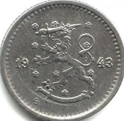Münze > 50Penny, 1943 - Finnland  (Iron /gray color/) - obverse
