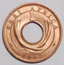 Moneta > 1centesimo, 1954-1962 - Africa Orientale Britannica  - reverse