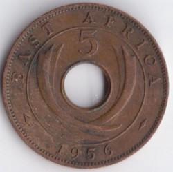 Moneda > 5cents, 1955-1963 - Àfrica Oriental Britànica  - reverse