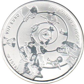 5 Euro 2016 Hieronymus Bosch Niederlande Münzen Wert Ucoinnet