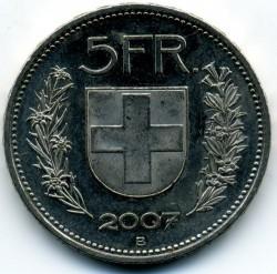 Moneta > 5franków, 2007 - Szwajcaria  - reverse