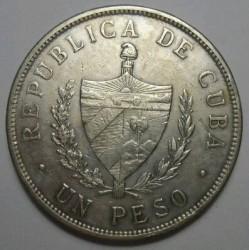 Coin > 1peso, 1915-1934 - Cuba  - reverse