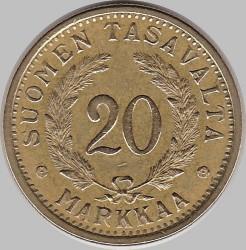 Münze > 20Mark, 1932 - Finnland  - reverse