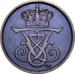 Coin > 1ore, 1909 - Denmark  - obverse