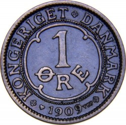 Coin > 1ore, 1909 - Denmark  - reverse