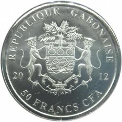 Moneta > 50franchi, 2012 - Gabon  (Nelson Mandela) - obverse