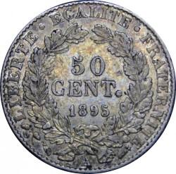 Moneta > 50centesimi, 1871-1895 - Francia  - reverse