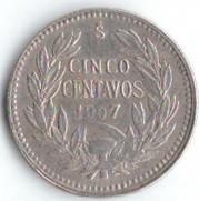 Coin > 5centavos, 1899-1907 - Chile  - reverse