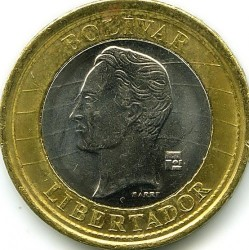 Moneta > 1bolivaras, 2012 - Venesuela  - reverse