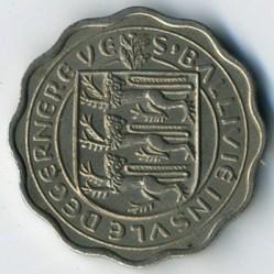 Νόμισμα > 3Πέννες, 1956 - Γκέρνσεϊ  - obverse