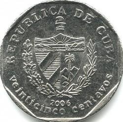 מטבע > 25סנטאבו, 1994-2018 - קובה  - obverse