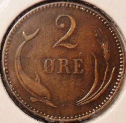Moeda > 2ore, 1874-1906 - Dinamarca  - reverse