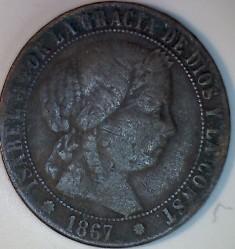 錢幣 > 1分, 1865-1868 - 西班牙  - obverse