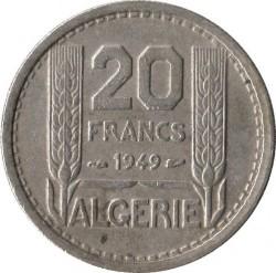 Pièce > 20francs, 1949-1956 - Algérie  - reverse