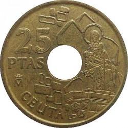 Монета > 25песети, 1998 - Испания  (Ceuta) - reverse