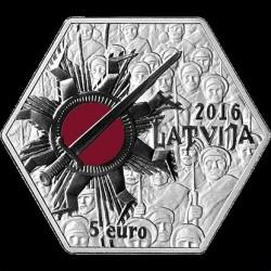 Coin > 5euro, 2016 - Latvia  (100th Anniversary - Christmas Battles) - obverse