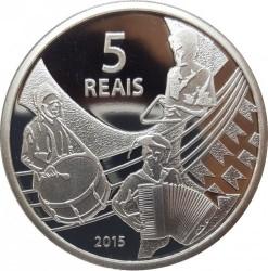 Moneta > 5reali, 2015 - Brazylia  (XXXI Letnie Igrzyska Olimpijskie, Río de Janeiro 2016 - Siatkówka i muzyka Forró) - reverse