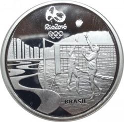 Moneta > 5reali, 2015 - Brazylia  (XXXI Letnie Igrzyska Olimpijskie, Rio de Janeiro 2016 - Siatkówka i muzyka Choro) - obverse