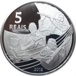 Moneta > 5reali, 2015 - Brazylia  (XXXI Letnie Igrzyska Olimpijskie, Rio de Janeiro 2016 - Siatkówka i muzyka Choro) - reverse
